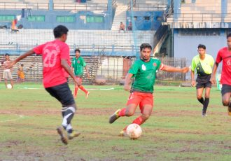 FAO 1st Division League encounter between Sunrise Club and Radha Raman Club.