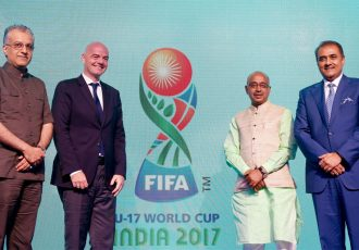 Official emblem launched for FIFA U-17 World Cup India 2017. (Photo courtesy: AIFF Media)