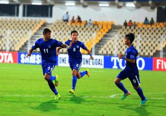 The India U-16 national football team. (Photo courtesy: AIFF Media)