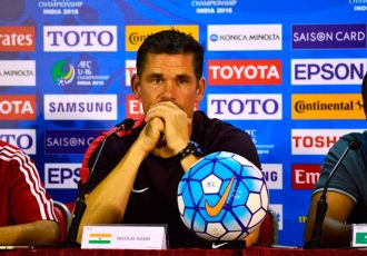 Indian U-16 National Team head coach Nicolai Adam