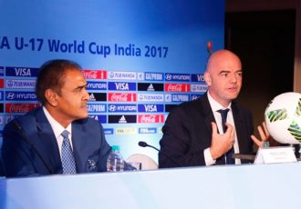 AIFF President Praful Patel and FIFA President Gianni Infantino. (Photo courtesy: AIFF Media))