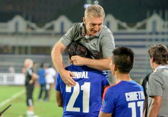 Bengaluru FC coach Albert Roca celebrating. (Photo courtesy: Bengaluru FC)