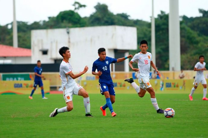 India go down fighting against China in BRICS U-17 Football Tournament. (Photo courtesy: AIFF Media)