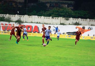 Match action during the BRICS U-17 Football Tournament encounter India v Russia. (Photo courtesy: AIFF Media)