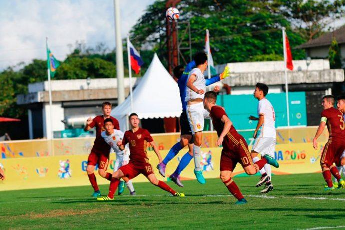Russia hammer China in BRICS U-17 Football Tournament. (Photo courtesy: AIFF Media)