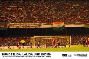125.000 begeisterte Fans bejubeln die Stars des FC Bayern München und von Mohun Bagan AC in Kalkutta, Indien im Jahre 2008. (© arunfoot / CPD Football)