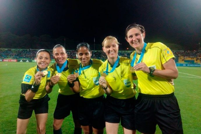 AFC Referees Special Award 2016 for India's Uvena Fernandes (Photo courtesy: AIFF Media)