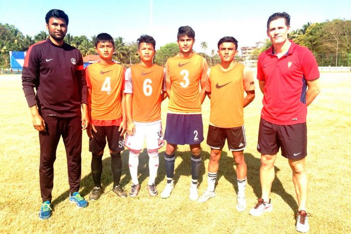 Four boys selected from FIFA U-17 World Cup Scouting Camps for U-16 Youth League players (Photo courtesy: AIFF Media)