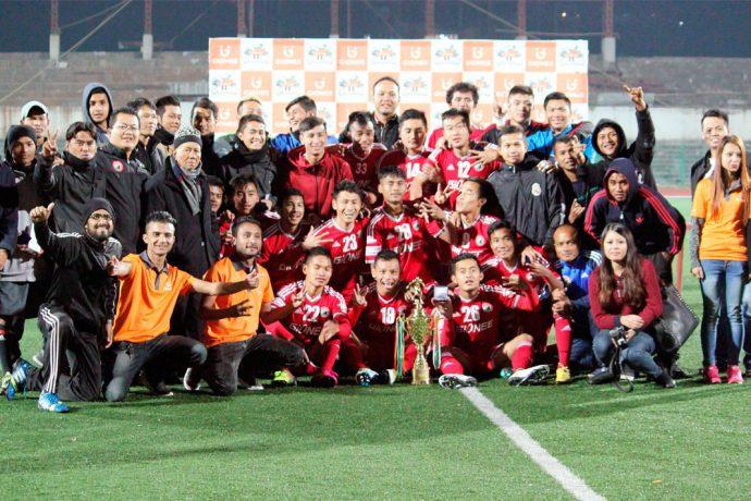 Shillong Lajong FC lift 2016 hillong Premier League title (Photo courtesy: Shillong Lajong FC)