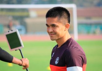 Indian national team skipper Sunil Chhetri (Photo courtesy: AIFF Media)