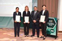 India's Uvena Fernandes receives AFC Referees Special Award (Photo courtesy: AIFF Media)