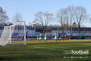 Match action from the Women's DFB-Pokal Round of 16 match DJK Arminia Ibbenbüren v FC Bayern Munich. (© CPD Football)