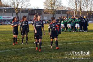 FC Bayern Munich player Lisa Evans, Sara Däbritz, Caroline Abbé, Verena Faißt and Nicole Rolser. (© CPD Football)