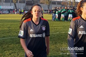 FC Bayern Munich and Scotland striker Lisa Evans. (© CPD Football)
