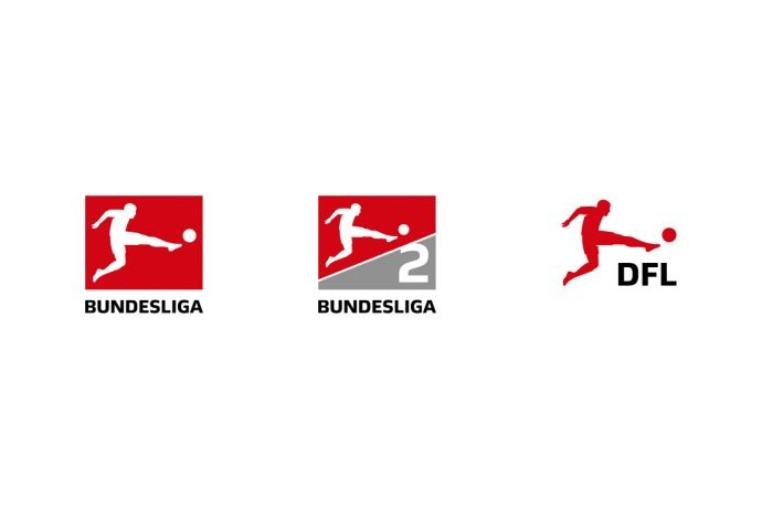 Logos of the Bundesliga. Bundesliga 2 and Deutsche Fußball-Liga (DFL)
