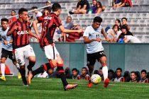 Match action from the Atlético Paranaense U-17 v India U-16 encounter. (Photo courtesy: AIFF Media)