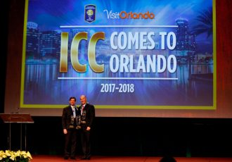 George Aguel, President and Chief Executive Officer of Visit Orlando, together with Bruce Bundrant, Chief Commercial Officer of Relevent, today announced a hallmark, multi-year partnership for the International Champions Cup, the first time the premier global summer soccer tournament has officially aligned with a destination tourism organization. (Photo courtesy: [PR Newswire] PR Newswire)