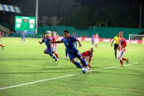 India striker Jeje Lalpekhlua in action Puerto Rico (Photo courtesy: AIFF Media)
