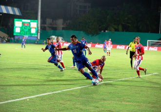 India striker Jeje Lalpekhlua in action Puerto Rico (Photo courtesy: AIFF Media)