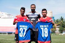 Mandar Rao Dessai, Arindam Bhattacharya and Sena Ralte join Bengaluru FC (Photo courtesy: Bengaluru FC)