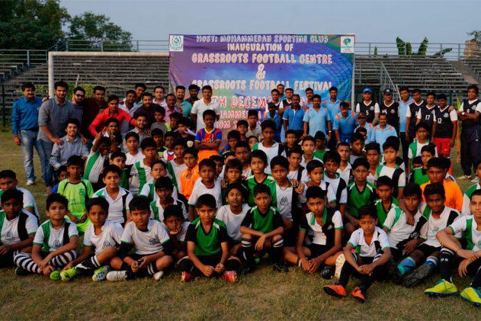 Mohammedan Sporting inaugurates its first ever Grassroots Programme on Kolkata Maidans (Photo courtesy: Mohammedan Sporting Club)
