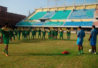 Salgaocar FC training session at the Tilak Maidan (Photo courtesy: Salgaocar FC)