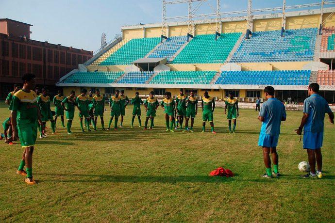 Salgaocar FC training session at the Tilak Maidan (Photo courtesy: Salgaocar FC)