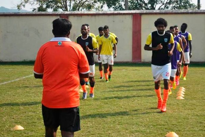 Sporting Clube de Goa during a training session (Photo courtesy: Sporting Clube de Goa)
