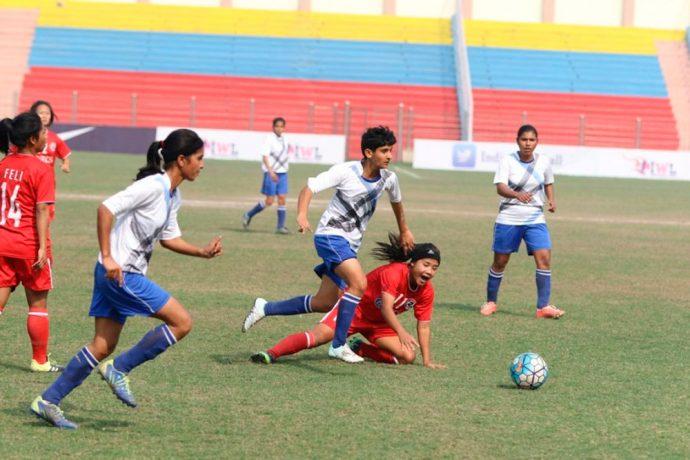 Sterling Sanju leads FC Alakhpura to a 6-2 win over Aizawl FC (Photo courtesy: AIFF Media)