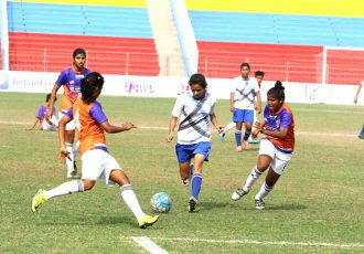 FC Pune City and FC Alakhpura play a goalless draw in the Indian Women's League (IWL). (Photo courtesy: AIFF Media)