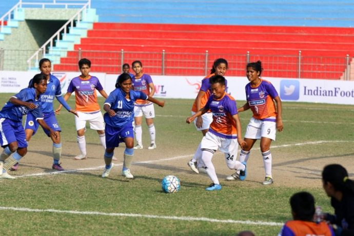 FC Pune City edge past Jeppiaar IT FC in Indian Women's League encounter (Photo courtesy: AIFF Media)