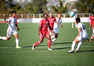 Match action during the I-League encounter Aizawl FC v Shillong Lajong FC. (Photo courtesy: Shillong Lajong FC)