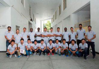 Aizawl FC squad for the 2016-17 I-League season (Photo courtesy: Aizwal FC)