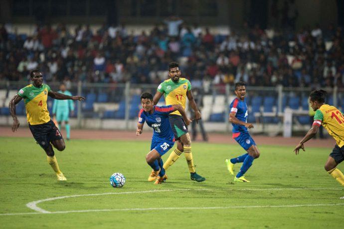 Match action during the I-League encounter Bengaluru FC v Chennai City FC. (Photo courtesy: I-League Media)