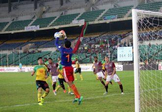 Match action during the I-League encounter Chennai City FC v Mohun Bagan AC. (Photo courtesy: I-League Media)