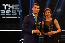 Carli Lloyd of the United States and Houston Dash and Cristiano Ronaldo of Portugal and Real Madrid pose with their The Best FIFA Player Award during The Best FIFA Football Awards at TPC Studio on January 9, 2017 in Zurich, Switzerland. (Photo by Mike Hewitt - FIFA/FIFA via Getty Images)