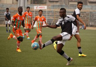 Match action during the Second Division League encounter Mohammedan Sporting Club v NEROCA FC. (Photo courtesy: Mohammedan Sporting Club)