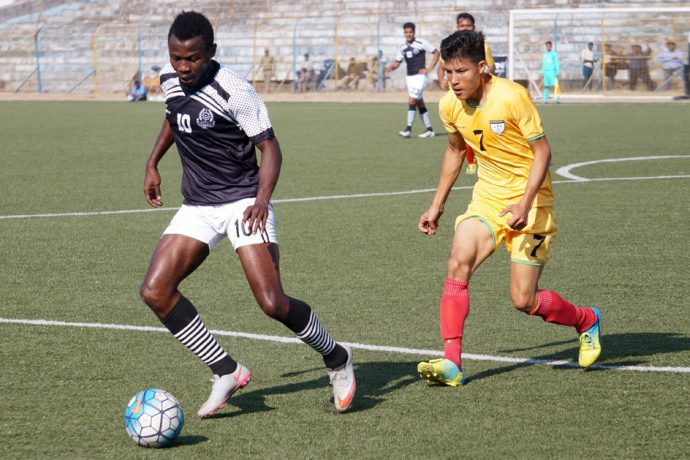 Match action during the Second Division League encounter Mohammedan Sporting Club v Southern Samity. (Photo courtesy: Mohammedan Sporting Club)