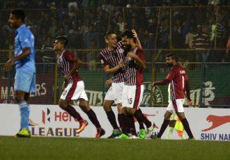 Mohun Bagan AC players celebrating (Photo courtesy: I-League Media)