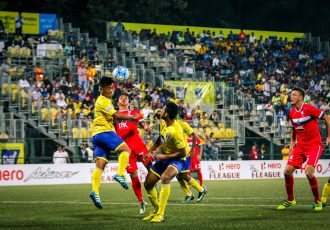 Match action during the I-League encounter Mumbai FC v DSK Shivajians FC (Photo courtesy: I-League Media)