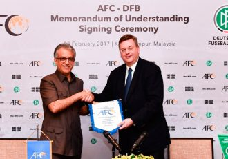 AFC MoU with German FA strengthens cooperation between Asia and Europe (Photo courtesy: AFC)