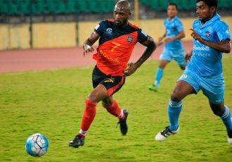 Match action during the I-League encounter Chennai City FC v Churchill Brothers SC (Photo courtesy: I-League Media)