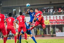 Bengaluru FC's Keegan Pereira in action against DSK Shivajians at the Balewadi Stadium (Photo courtesy: Bengaluru FC)