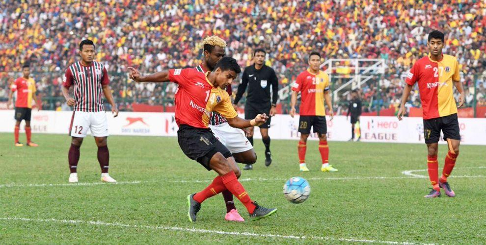 Kolkata Derby between East Bengal Club and Mohun Bagan AC in the 2016/17 I-League (Photo courtesy: I-League Media)