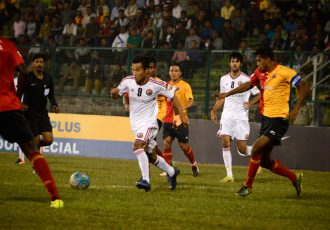 Match action during the I-League encounter East Bengal Club v Shillong Lajong FC (Photo courtesy: I-League Media)