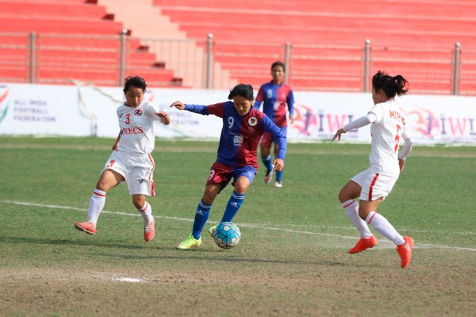 Eastern Sporting Union hammer Aizawl FC in IWL encounter (Photo courtesy: AIFF Media)