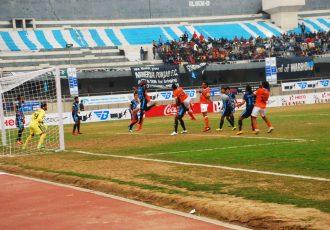 Match action during the I-League encounter Minerva Punjab FC v Mumbai FC. (Photo courtesy: I-League Media)