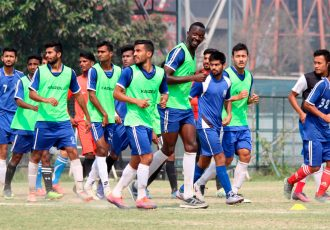 Mohammedan Sporting Club training session (Photo courtesy: Mohammedan Sporting Club)