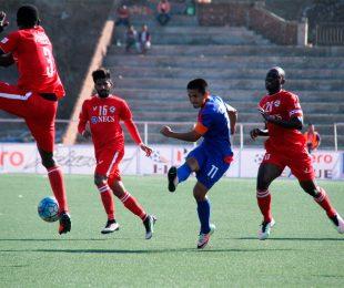 Bengaluru FC skipper Sunil Chhetri in action against Aizawl FC at the Rajiv Gandhi Stadium (Photo courtesy: Bengaluru FC)