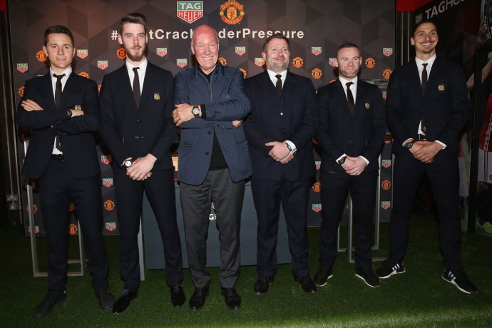 TAG Heuer unveils two exclusive Special Edition Manchester United watches (Photo courtesy: Manchester United / TAG Heuer)